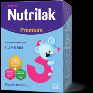 Молочный напиток  Premium 3 с 12 месяцев мл Nutrilak