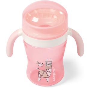 Поильник-непроливайка  360° розовый, 240 мл BabyOno. Цвет: розовый