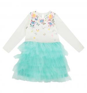 Платье  Sig, цвет: белый/голубой Acoola