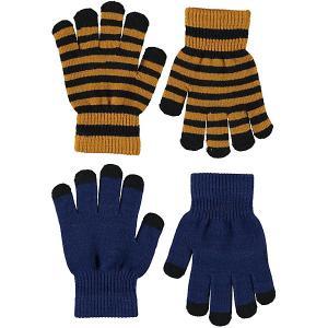 Перчатки , 2 пары Molo. Цвет: синий