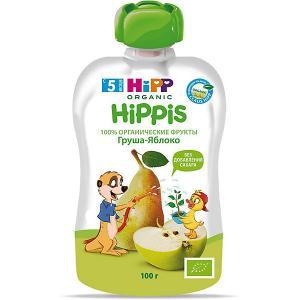 Пюре  is яблоко, груша, с 5 мес, 6 шт HiPP