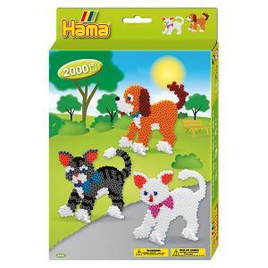 Термомозаика  Perlen Собака и Кошка + 2 основы, 2000 бусин Hama