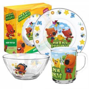 ND Play Набор стеклянной посуды Мимимишки Тучка и друзья (3 предмета)