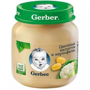 Пюре  цветная капуста-картофель с 5 месяцев, 130 г Gerber