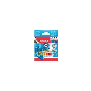 Набор пластиковых цветных карандаей  Pulse Maxi трехгранные, 12 цветов Maped. Цвет: разноцветный