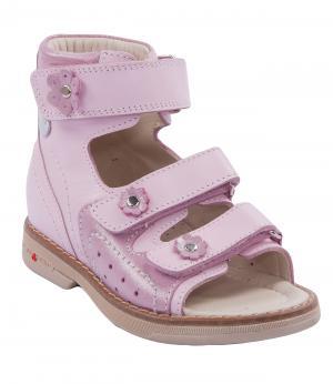 Сандалии открытые для девочки (розовые) Orsetto. Цвет: розовый