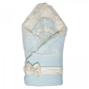 Конверт-одеяло на выписку Жемчужинка, , голубой Сонный гномик. Цвет: голубой