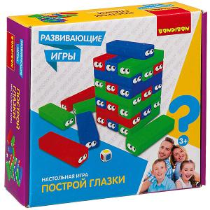 Развивающая игра  Построй глазки 30 блоков Bondibon