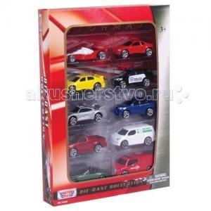 Игровой набор с коллекционными машинками 10 штук 1:64 MotorMax