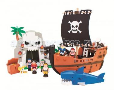 Конструктор  Приключения пиратов 124 детали Bebox