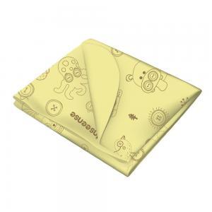 Клеенка  подкладная с обработкой тесьмой рисунком, 1 шт, цвет: желтый Inseense