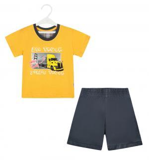 Пижама футболка/шорты  On Way, цвет: желтый/серый Cornette