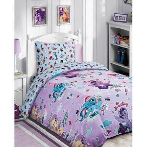 Детское постельное белье 1,5 сп. My Little Pony с десертом на розовом Мона Лиза. Цвет: розовый