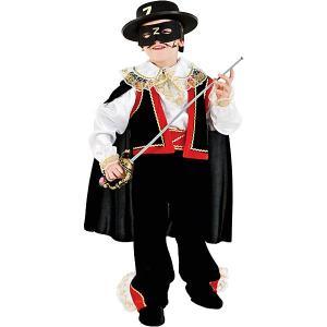 Карнавальный костюм  Зорро для мальчика Veneziano. Цвет: разноцветный