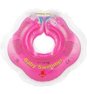 Круг  На шею, цвет: розовый Baby Swimmer