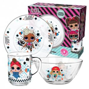 ND Play Набор посуды из стекла L.O.L. Surprise Dollsaregogo (3 предмета)