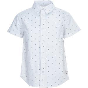 Сорочка  для мальчика Button Blue. Цвет: белый