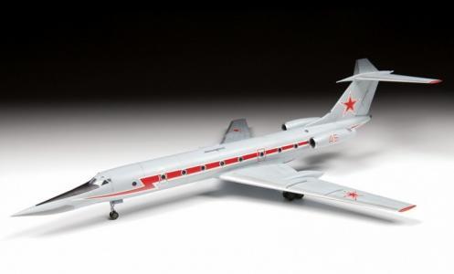 Сборная модель Учебно-тренировочный самолёт ТУ-134УБЛ Звезда