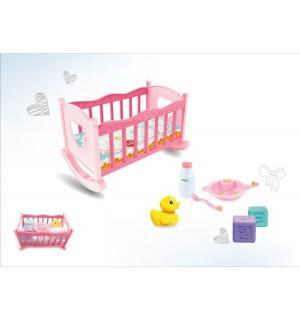Мебель для кукол  Кроватка с аксессуарами 30 см Наша Игрушка