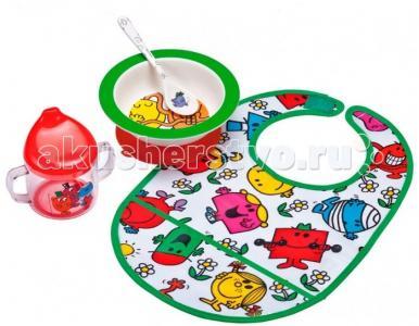 Набор детской посуды Monsieur Madame с нагрудником Petit Jour