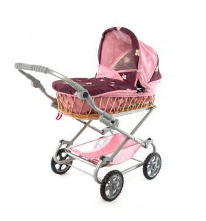 Коляска для кукол  Моника розовая Wakart