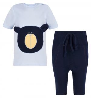 Комплект футболка/шорты  Bear, цвет: голубой/синий Aga