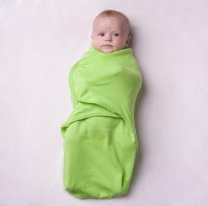 Пеленка SwaddleFun XL, цвет: салатовый Pecorella