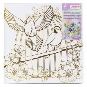 Холст для росписи акварелью Птицы Фабрика фантазий