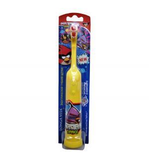 Зубная щетка  Angry birds электрическая, цвет: желтый Longa Vita