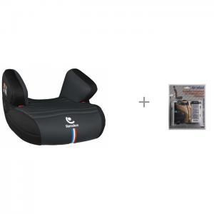 Бустер  Jet 2020 c защитой спинки сиденья от грязных ног ребенка АвтоБра Renolux