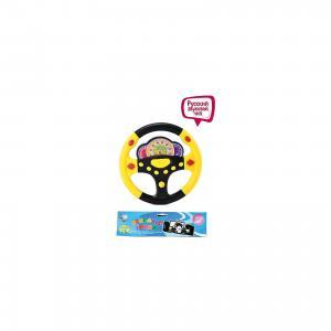 Музыкальный руль Наша Игрушка Весёлые гонки, свет и звук Shantou Gepai. Цвет: разноцветный