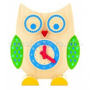 Развивающая игрушка  Сова часы и счеты Мир деревянных игрушек
