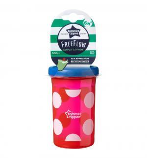 Чашка-непроливайка  Super sipper для кормления, с 6 мес, цвет: красный/белый Tommee Tippee