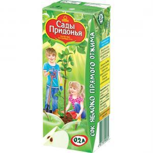 Сок  яблоко, 200 мл Сады Придонья