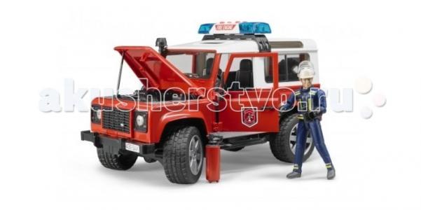 Внедорожник Land Rover Defender Station Wagon Пожарная с фигуркой Bruder