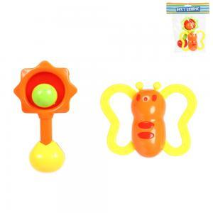 Разивающая игрушка  Набор погремушек желто-салатовые S+S Toys