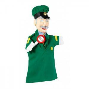 Кукла на руку Полисмен резная Goki