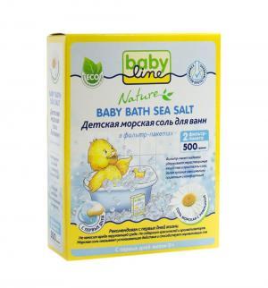 Соль для ванн  Nature морская с ромашкой, 500 гр Baby Line