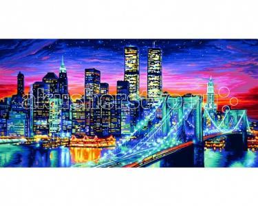 Картина по номерам Ночной Манхеттен 40х80 см Schipper