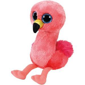 Мягкая игрушка TY Розовый фламинго, 15 см