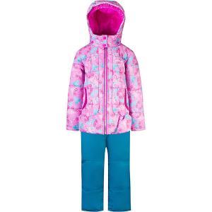 Комплект : куртка и полукомбинезон Gusti. Цвет: розовый