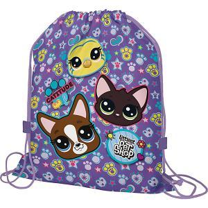 Мешок для обуви  Littlest Pet Shop Академия групп. Цвет: фиолетовый