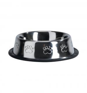 Миска для собак  стальная хромированная нескользящая, 450мл*16.5см I.P.T.S.