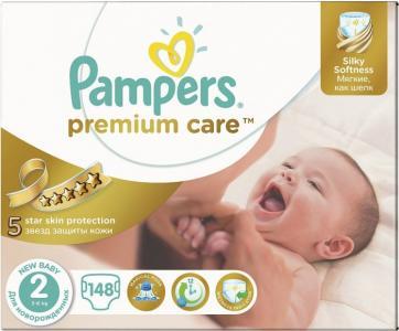 Подгузники Premium New Baby р.2 (3-6 кг) 148 шт. Pampers