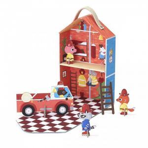 Игрушки из картона: набор для путешествий Пожарная станция капитана Фьюри Krooom