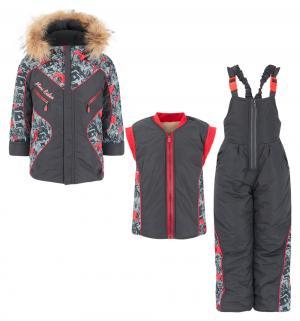 Комплект куртка/жилет/полукомбинезон  Спорт, цвет: серый Alex Junis