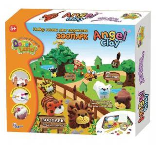 Набор игровой  Глина для творчества. Зоопарк Angel Clay