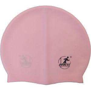 Силиконовая шапочка для плавания , розовая Dobest