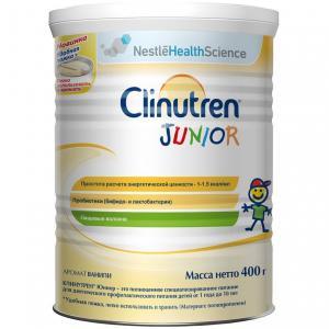 Заменитель молока  Clinutren Junior диетическое профилактическое питание от 1 года до 10 лет, 400 г Nestle
