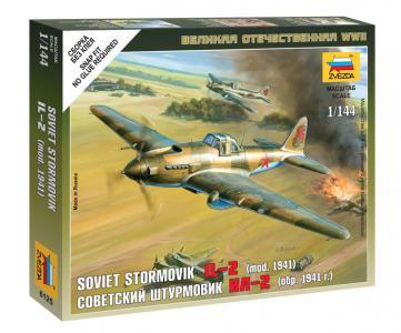 Сборная модель  Советский штурмовик Ил-2 Звезда